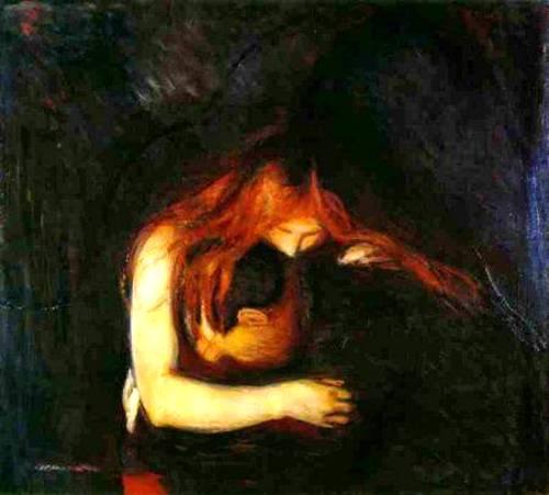 El vampiro de Edward Munch